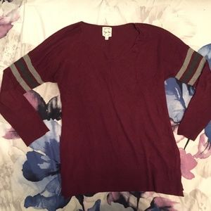 Hippie Rose Red Long-Sleeve Sweater